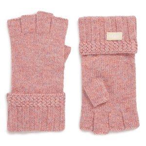 Ugg cuffed wool fingerless gloves